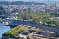 Corfu Town văzut din vârful fortăreței