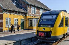 """""""Purcelușul"""", în gară la Frederiksværk"""