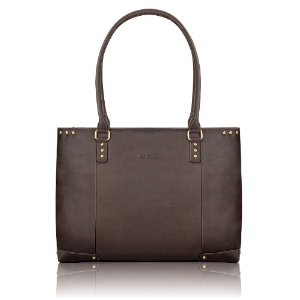 SOLO Vintage Collection Women's Leather Carryall for Laptops