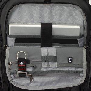The detachable bag has a front organizer compatment