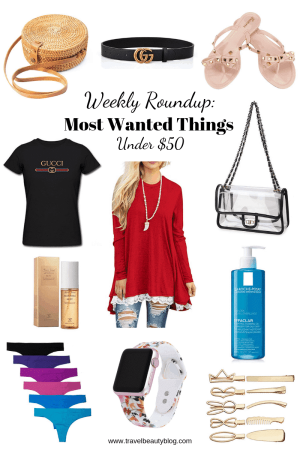 I am back again this week with another roundup of the most wanted things under $50 on my wish-list. Judging from the positive feed back of last week's post which you can read here, you guys really love roundups. So now that Spring is finally here, I wanted to keep things fresh and so this list in more in keeping with this season's styles. This week I also incorporated some designer dupes. There are times when I really like a style but I am not willing to pay the hefty price tag.