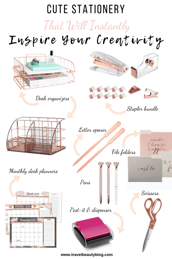 Cute Stationery That Will Instantly Inspire Your Creativity | Travel Beauty Blog | Stationery | Rose Gold Stationery | Gold Stationery