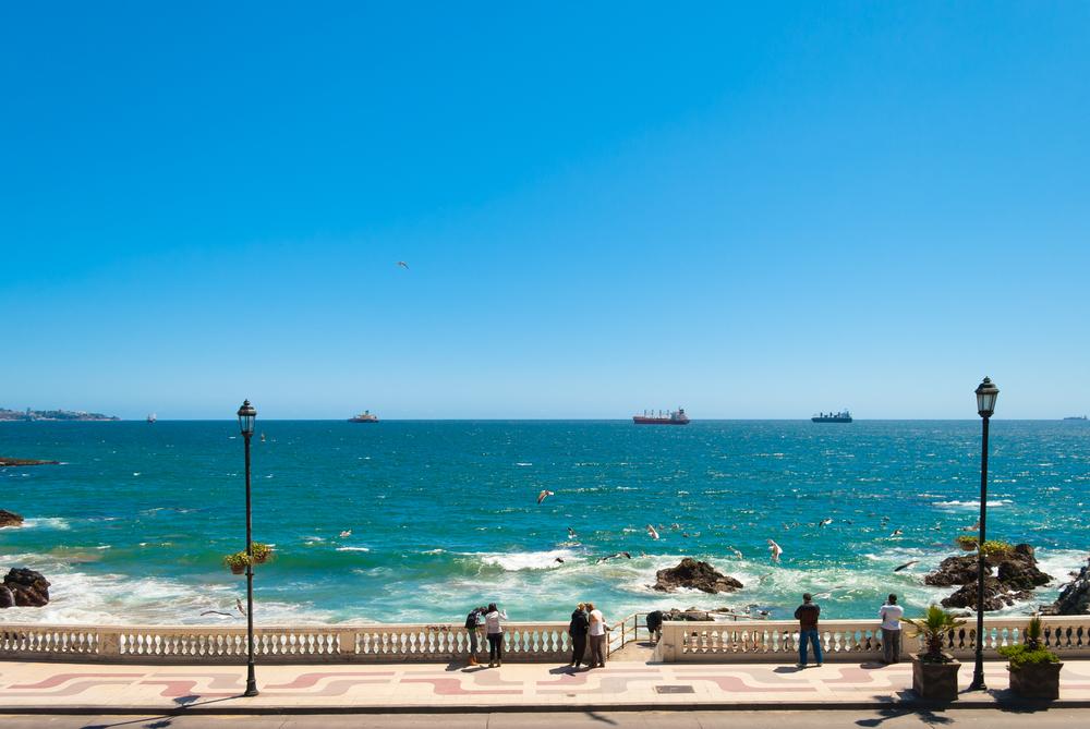 cote plage vina del mar pacifique sud chile