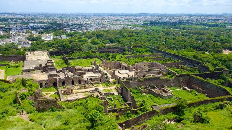 Golconda fort view hyderabad