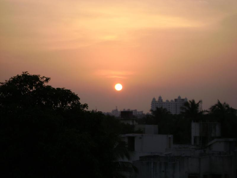 sunset in chennai tourism
