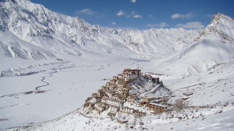 Key Monastery in winter