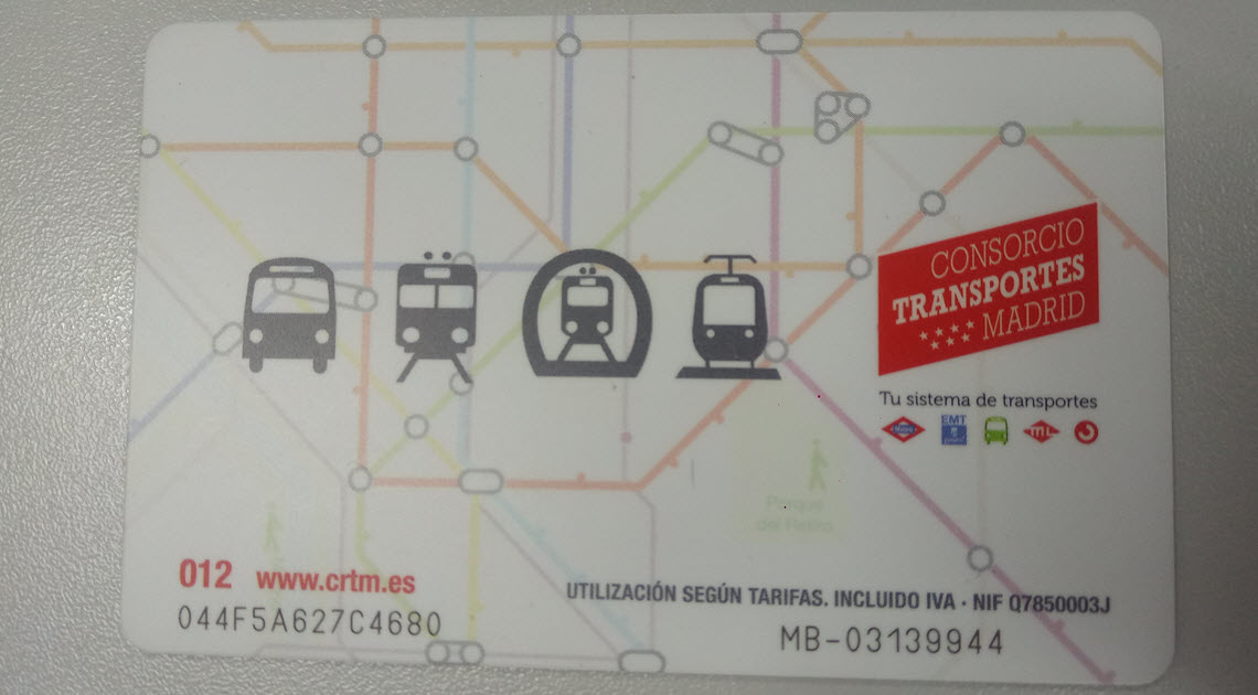 Dream Destination Spain - Metro card Madrid