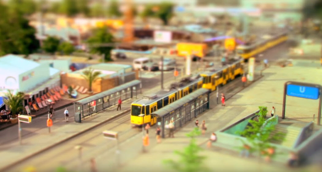 7 เมืองของเล่น Tilt Shift