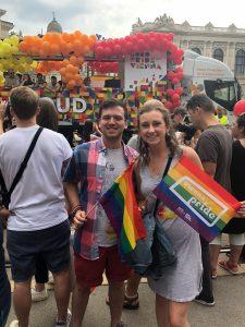 Grace and Cam do Pride