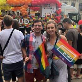 Grace and Cam do Pride