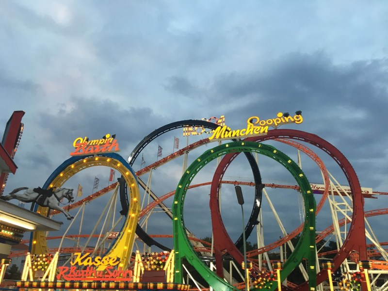 Olympic themed roller coaster