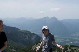 smiling on top of untersberg
