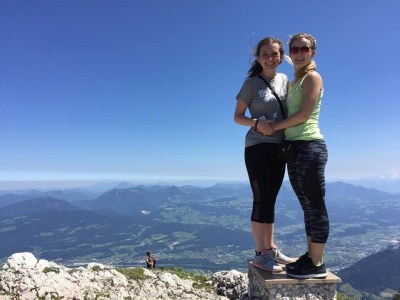 Grace and Kate on Untersberg