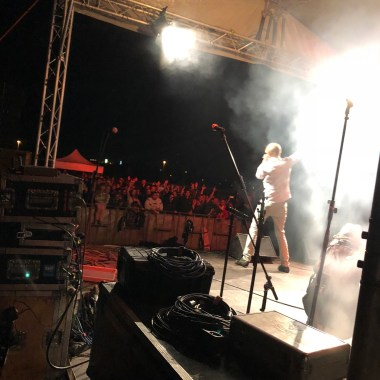 Backstage view at Music Fest in Prague