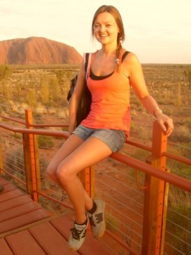 Sara visiting Ayers Rock