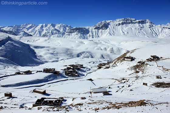 Komic, highest village of Asia during winters