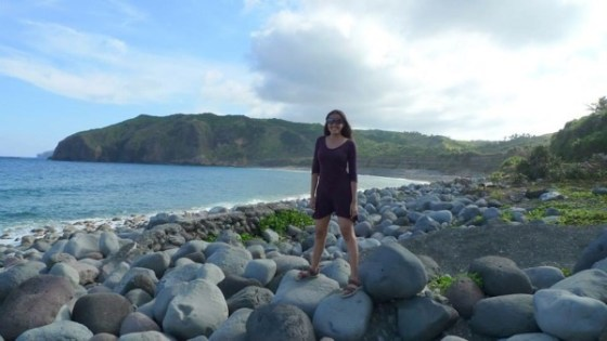 Mica enjoying a solo birthday trip in Batanes