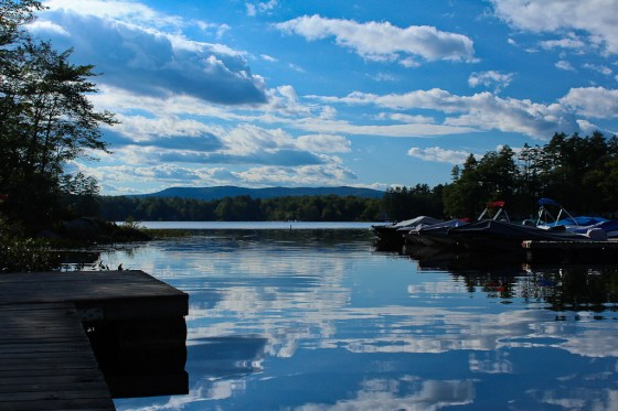 Lake in New Hampshire USA