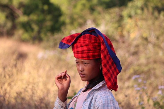 Local Pa'O woman in Myanmar hill country