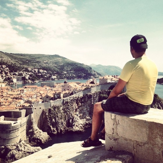 Looking over Dubrovnik