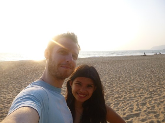 Jonathan and Kach of 2 Monkeys Travel Group in Agonda Beach, Goa, India