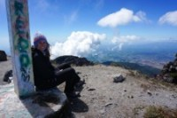 Amanda on the top of Volcán Barú, the highest peak in Panama from The Adventure Junkies