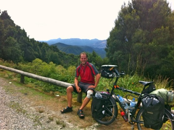 Thomas Boughton Tom Boughton Black Dog Bicycling Tom and his bike in Tasmania