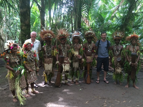 Simon Heyes and his Dad at Tufi Papua New Guinea