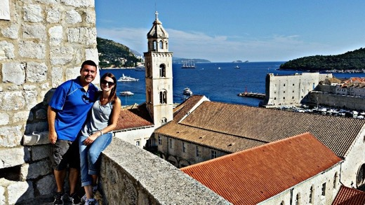 Dave and Angela of The Dang Travelers in Dubrovnik