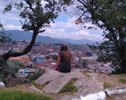 Looking out over Quetzaltenango, Guatemala! Claire Martin of Claire's Footsteps