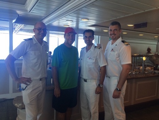 Charles McCool of McCool Travel with Fathom cruise crew