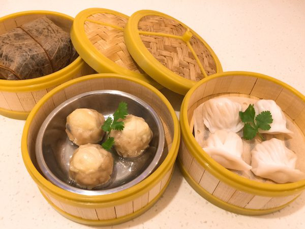 一點心:糯米雞($32)+鵪鶉蛋燒賣($30)+筍尖蝦餃皇($30)