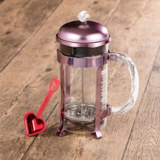 Starbucks_8-Cup Pink Valentine's Stainless Steel Coffee Press with Marble Handl