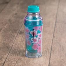 Blue Floral Water Bottle