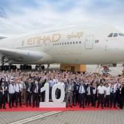 阿提哈德航空喜迎第 10 架 A380