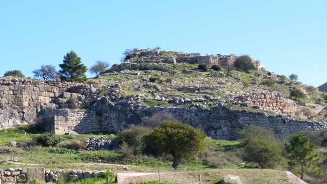 The acropolis of Mycenae