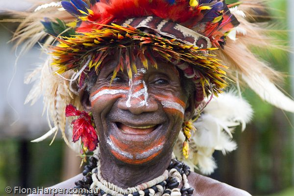 PNG villager in traditional dress