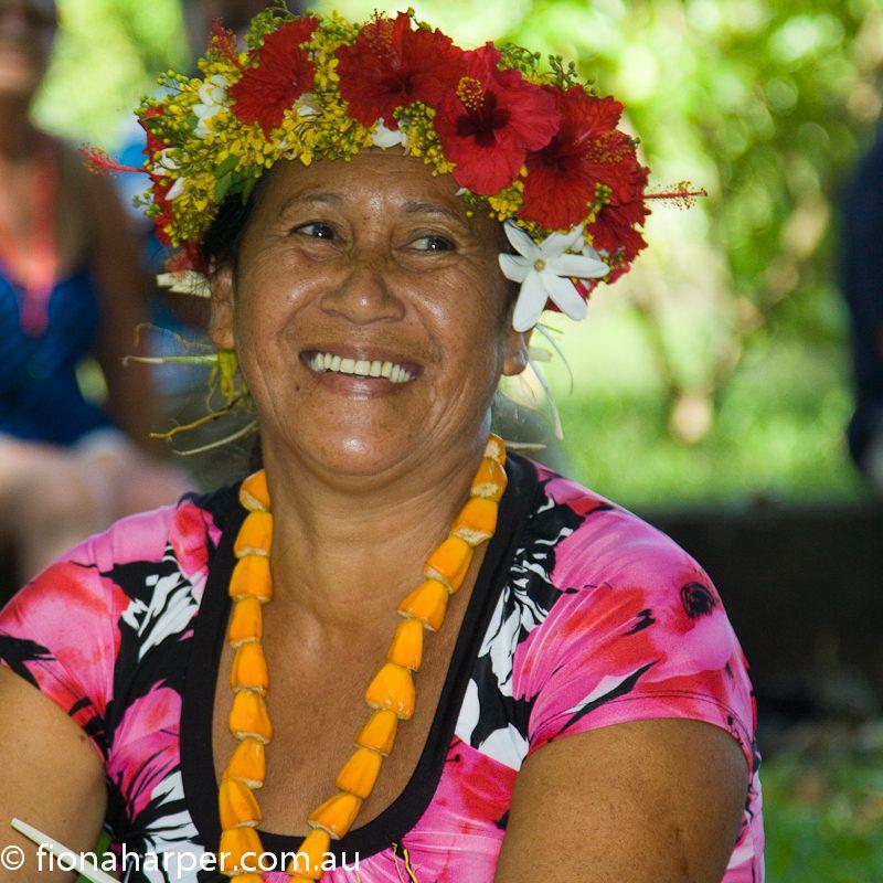 Tahitian lady Fatu Hiva Island Tahiti