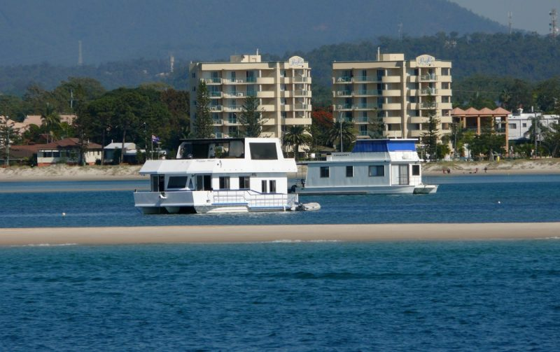 Gold Coast Broadwater houseboats