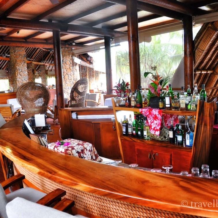 De bar, perfect voor een aperitiefje voor het diner.