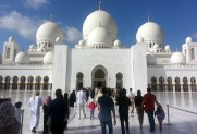 Walking into the Grand Mosque