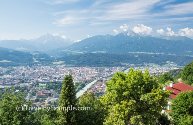 Views of Innsbruck from the Hermann Buhl Platz