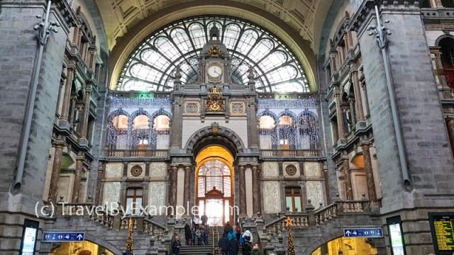 Interior architecture of Antwerp Train Station