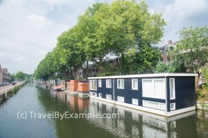Residential houseboats are popular in the Netherlands