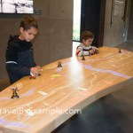 Playing a game in Waterline Museum