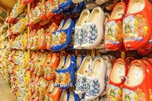 A Pair of clogs - wooden shoes - is a popular Dutch souvenir