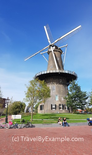 Molen De Valk is the 18th century windmill in Leiden