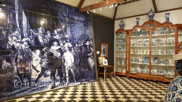 Rembrandt's painting made of delftware tiles - Royal Delft museum