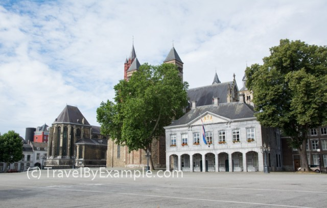 Vrijthof - Maastricht's town square with many historical buildings