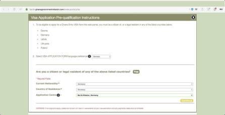 Ghana Visa Application Germany